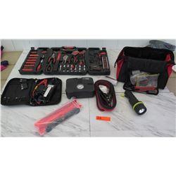 Tools - Microstart XP-1 Battery Jumper System, Socket Set, etc.