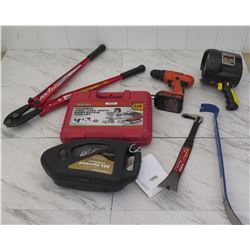 Tools - HK Porter Bolt Cutters, 12V Compressor, Tool Set, etc.