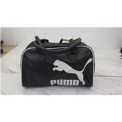 Black Puma Gym Bag w/ White Puma Logo