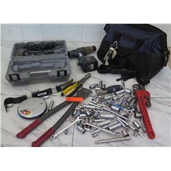 Tools - Monkey Wrench, Dremel 4000, Sockets, Bag, etc.