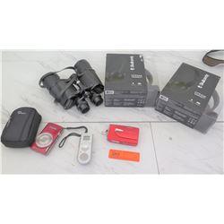 Electronics - Qty Skull Candy Uproar Headphones, Canon Camera, Binoculars, etc.