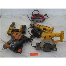 Tools - Dewalt Saw, Drill, Grinder, Ridgid Nail Gun, etc.