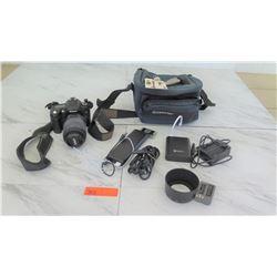Cameras - Nikon D90 Camera w/ Nikkor DX AF-S 55-200mm 1:4.56 ED Lens & Battery Accessories