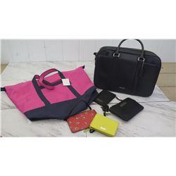 Black Coach Organizer Bag w/ $595 Tag, Red Coach Zippered Pouch, Kate Spade Purse, Victoria Secret B