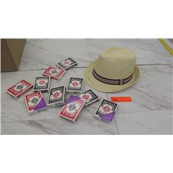 Straw Hat, 10 Decks of Playing Cards