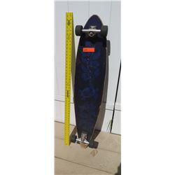 Skateboard - Long Board w/Flower Design on Deck