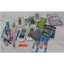 Large Lot of Pens, Pencils, Beads, etc.