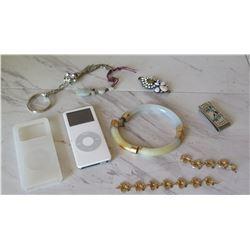 Misc. Jewelry & iPod - Jade Bracelet, etc.