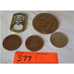 Collectible Coins - Hawaiian Dolar, Maui Dollar, Hawaiian Airlines, etc.