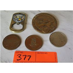 Collectible Coins - Hawaiian Dollar, Maui Dollar, Hawaiian Airlines, etc.