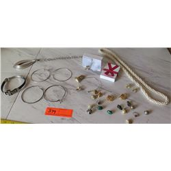 Misc. Costume Jewelry - Earrings, Rings, Neck Chains, etc.