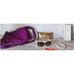Brera Designer Sunglasses, Oscar DeLa Renta Perfume, Puka Shell Necklace