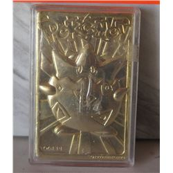 Pokemon 23K Gold-Plated Trading Card