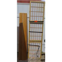 Shoji Divider Screen and Wooden Board