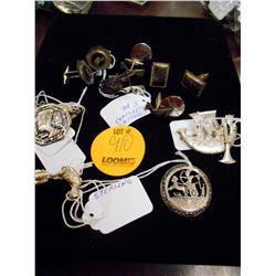 Asstd. Sterling Cufflinks, Pins, Other
