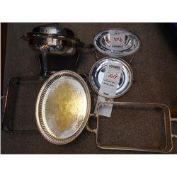 Antique Silver Plate Serving Lot