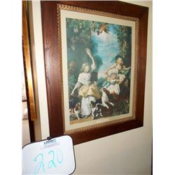 "Walnut Framed ""George the III Daughters"""