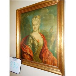 Framed Victorian Lady Portrait