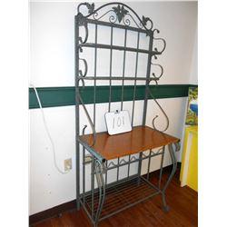 Wood Bakers Rack Shelf or Display