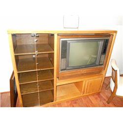 Vintage Chairs & Entertainment Center w/ TV