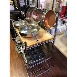 Metal Bakers Rack/ SS / Wood Top