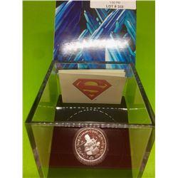 2013 10$ MRC Fine Silver Coin- 75 th Anniversary of Superman Vintage