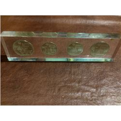 1976 Montreal Sterling Silver Olympic Proof Set - in a clear plexiglass display