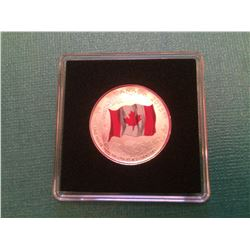 2015 Canada 25 Dollars Pure Silver Coin- The  Canadian Flag