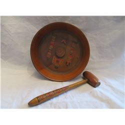 Pacific Northwest Coast Indian Hand Carved Nut Cracker and Dish