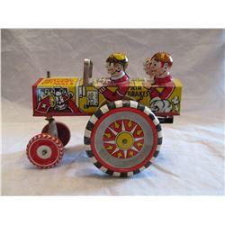 Vintage 1950's Marx Litho Wind Up Toy Car WORKS
