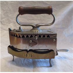 Rare 1873 Dated Iron and Stand