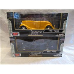 Lot of Two American Classic Die Cast 1934 Fords NIB