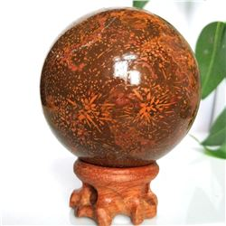 Firework Jasper Sphere with Stand 2.6""