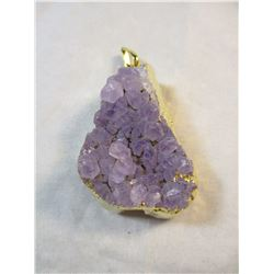 Amethyst and Golden Vermail Penant