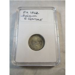 1862 Belgium 5 Centime Coin