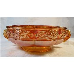 Vintage Carnival Glass Rose Patterned Dish