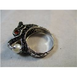 Black Crystal Dragon Ring