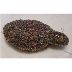 Rare 1900 Sioux Beaded turtle fetish