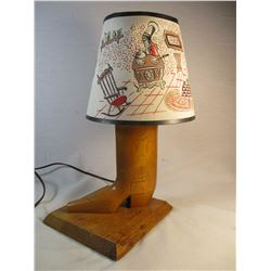 Vintage Wooden Cowboy Boot Lamp
