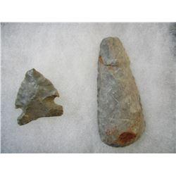 Lot of 2 South Dakota Found Native American Artifacts