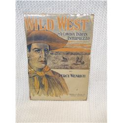 Wild West A Cowboy Indian Intermezzo 1908 vintage sheet music