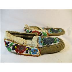 Circa 1920's Chippewa Beaded Moccasins