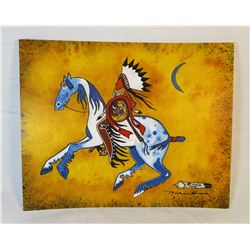Sioux Artist Thurman Horse Print Pine Ridge South Dakota