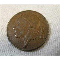 1953 Belgium 50 Centime Coin