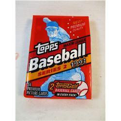 Sealed Topps Baseball Series 2 1993 Card Pack