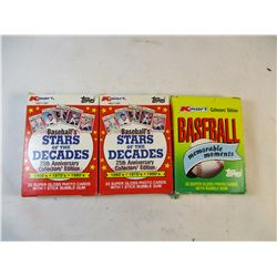 3 Packs 1987 Kmart Collectors Edition and 25th Anniversary Collectors Edition Baseball Cards