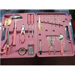 Pink Ladies 105 Piece Tool Kit in Case NIB