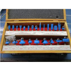 Handy Toughtest 24 Piece Router Bit Set in Wooden Case NIB