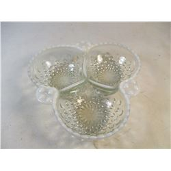 Vintage Milk Glass Hobnail Candy Dish #1415