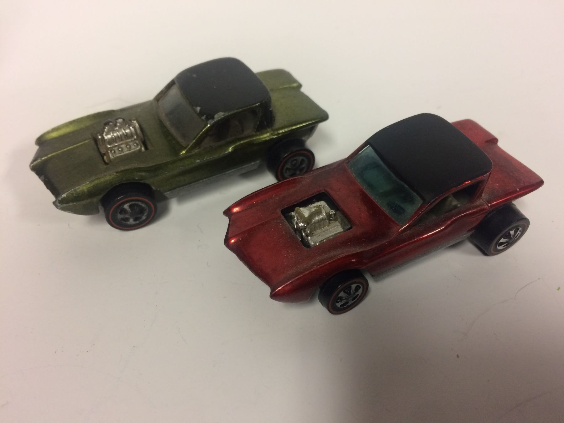 Vintage 1960s Red Line Hot Wheels Die Cast Toy Cars Lot 1st Edition